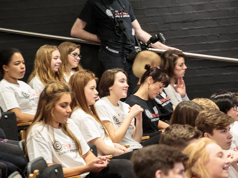 PeaceJam 2016 UK Conference - Listening intently