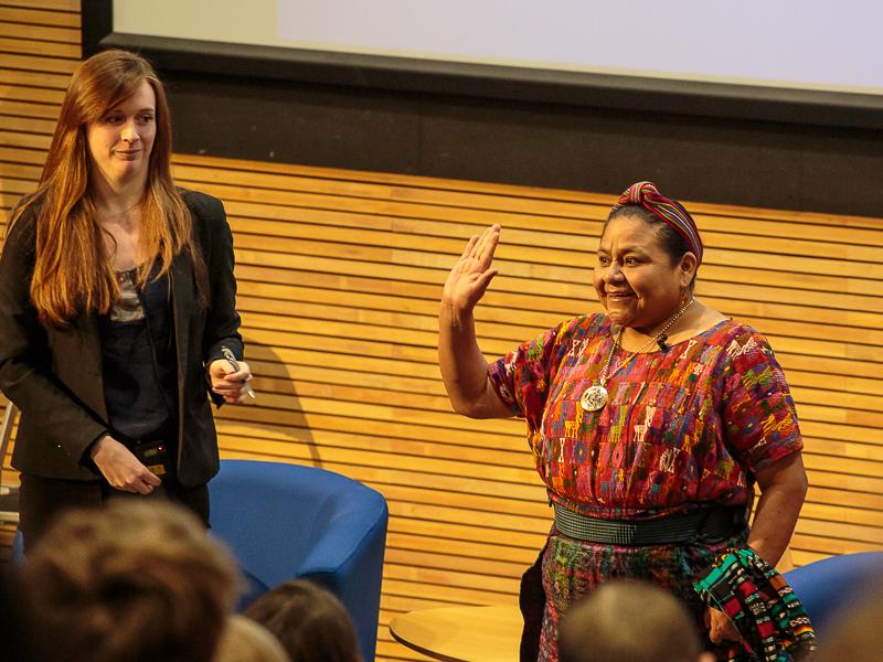 PeaceJam 2016 UK Conference - Acknowledges the applause.