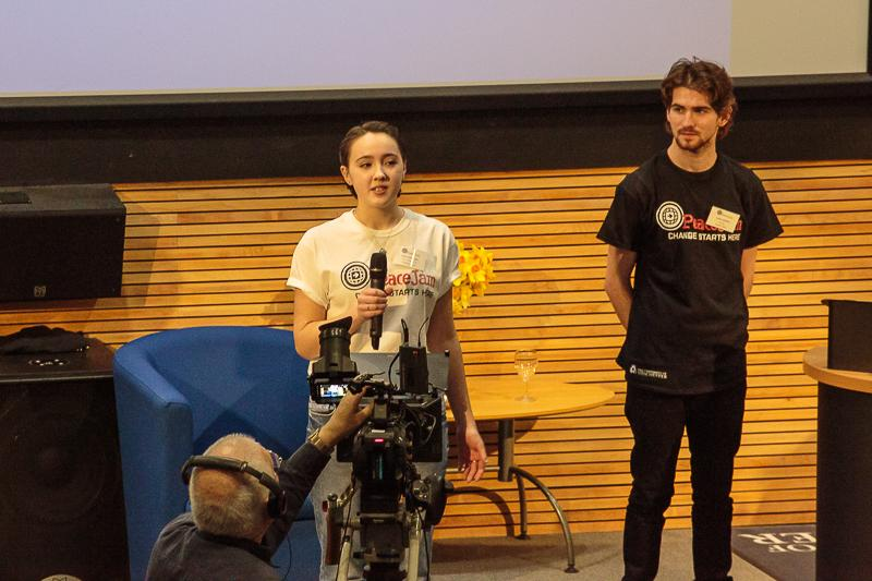 PeaceJam 2016 UK Conference - accompanied by Luke