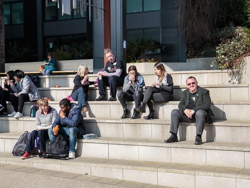 PeaceJam 2016 UK Conference - Relaxes in the sunshine and reminisces on his own student days!