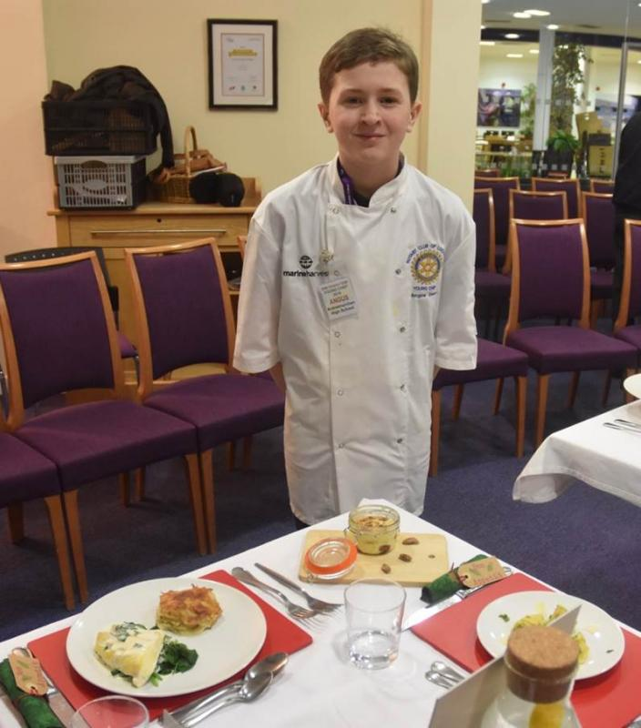 Young Chef District 1230 Final 2018 - Angus and the full winning meal