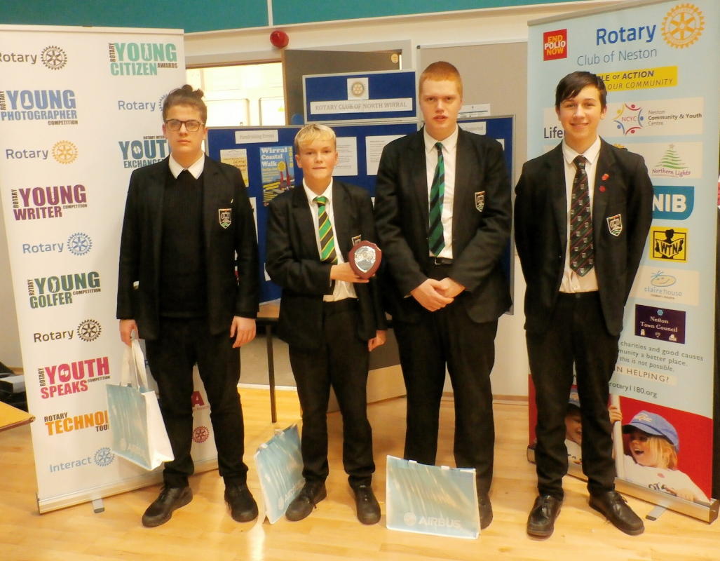 Youth Service - Neston High School Winners of Intermediate Technology Tournament 2019
