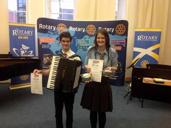 Young Musician Competition - Vocal : Leah McCabe : Notre Dame High School Instrumental. : Zach Ronan. Glasgow Gaelic School.
