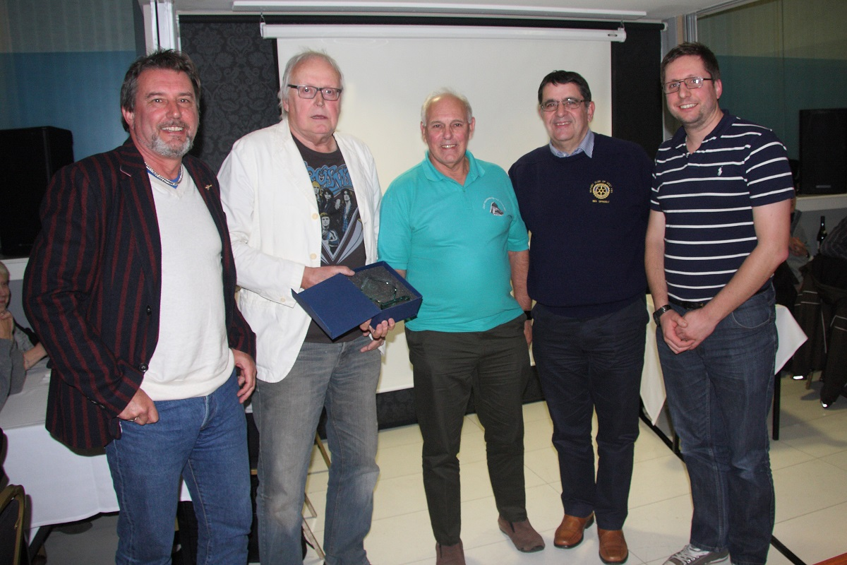 2017 Ultimate Quiz - (LtoR)Dave Paton, Olly Simpson, Brian Mitchell, President Neil and Steve Bradshaw
