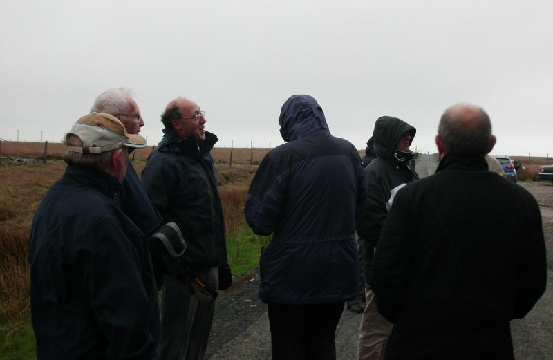 Visit to Horwich - Members of Horwich Rotary Club enjoying the weather at the top of Winter Hill.