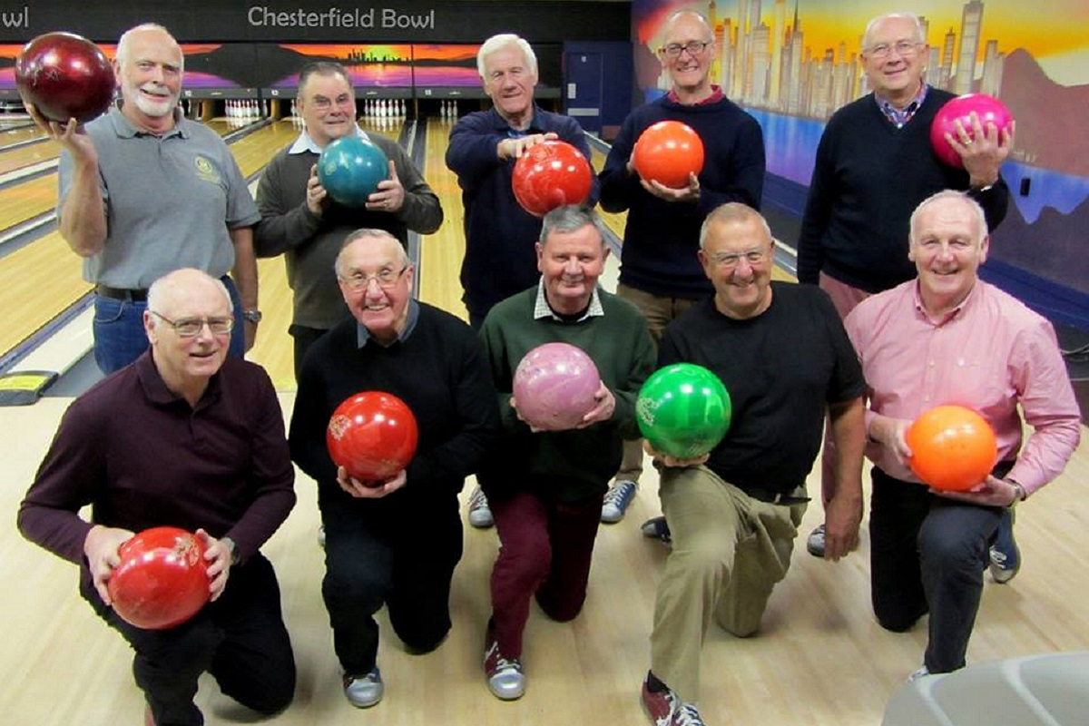 Social Events - Bowling match with the Chesterfield Rotary Club