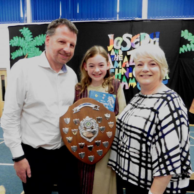 Dictionaries & Endeavour Awards for School Children  - at Woodeaves School, July 2017