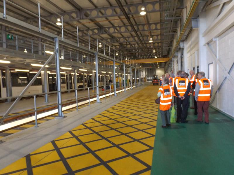 Visit to Edinburgh Tram Depot -