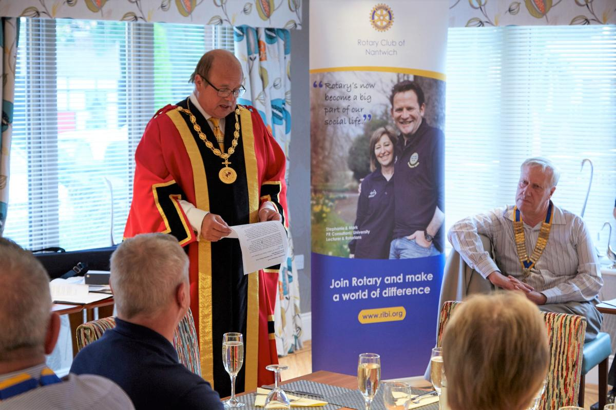 Chartering of Wych-Malbank Nantwich Rotary Club - Cllr David Marren  Mayor of Nantwich