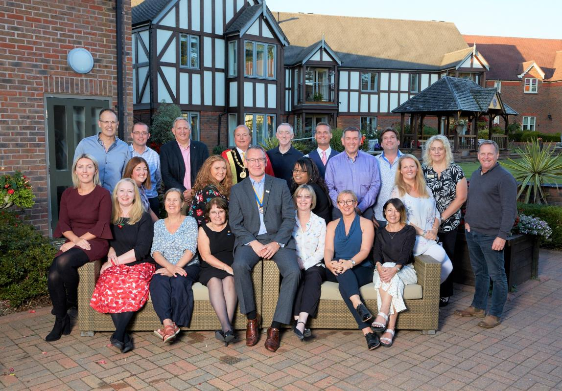Chartering of Wych-Malbank Nantwich Rotary Club - Founder Members of the Club