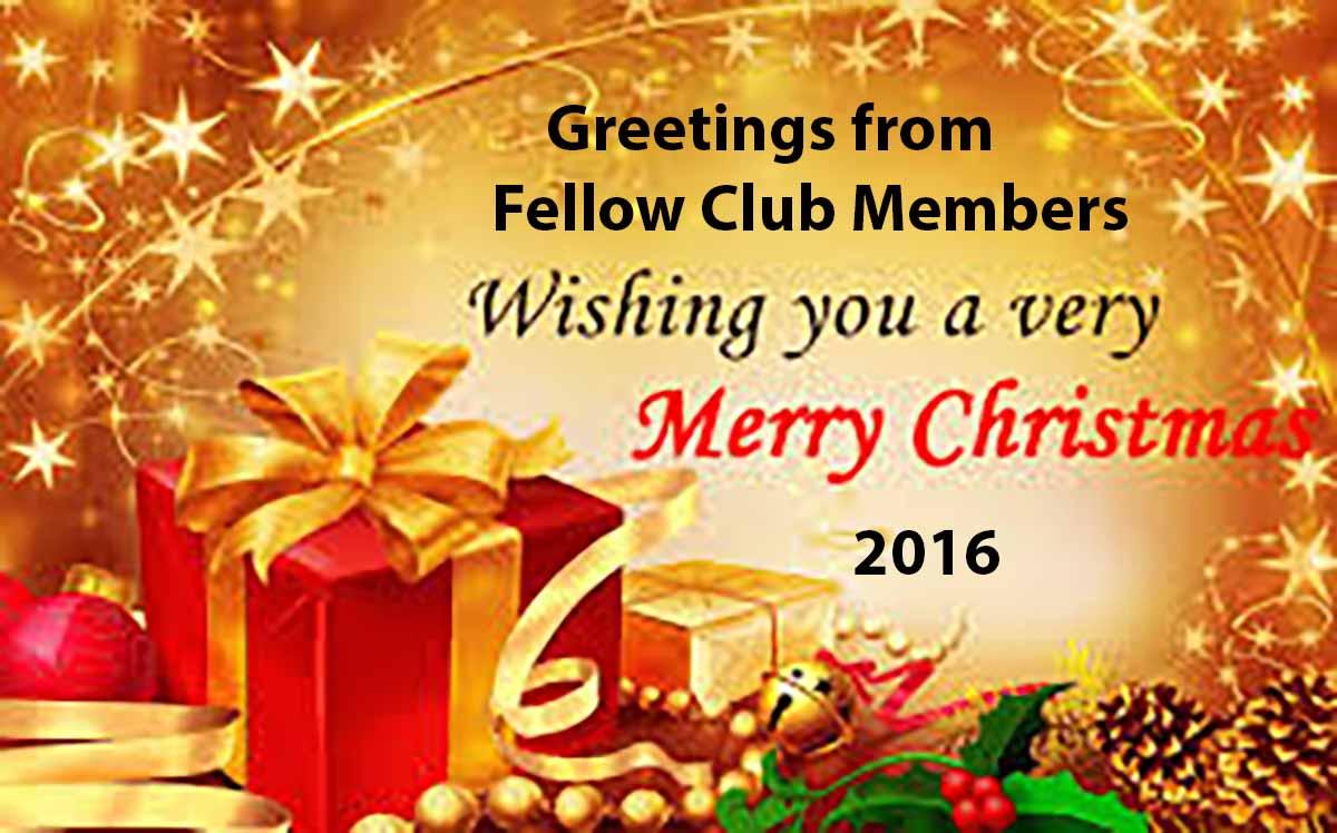 Christmas Greetings From Fellow Club Members Rotary Club Of