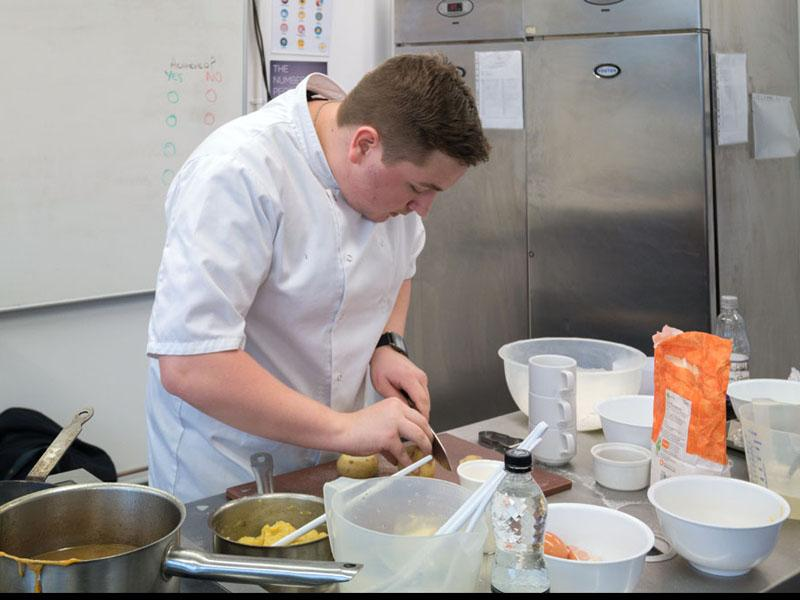 Local pupil from St Catherine's Academy wins Rotary Young Chef competition - Ryan Williams from St Catherines Acedemy