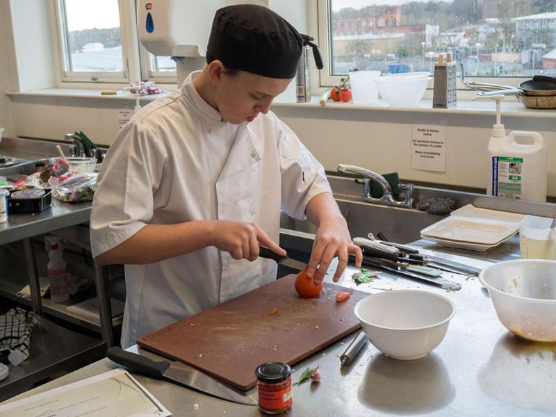 Local pupil from St Catherine's Academy wins Rotary Young Chef competition - Winner Kerion McCormack