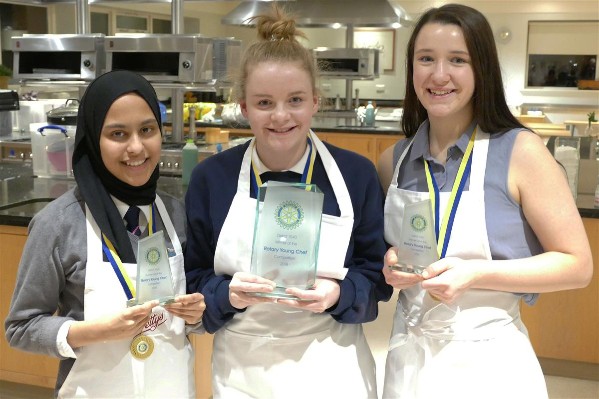 Rotary District 1040 Young Chef competition final 2018  - Amena, Amy, and Megan