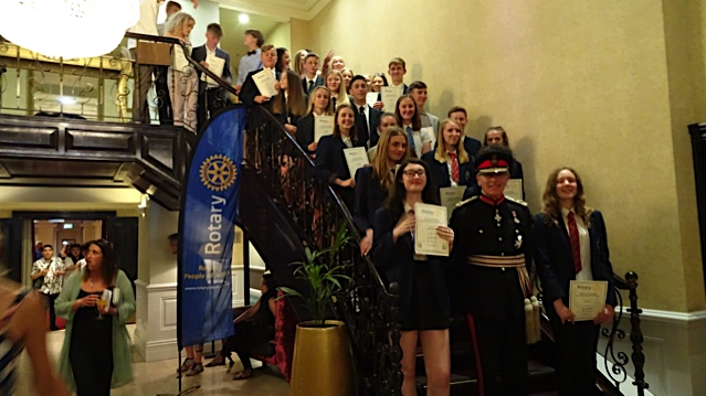 Rewarding Young Citizens - Award winners with Lord Lieutenant Peter Field