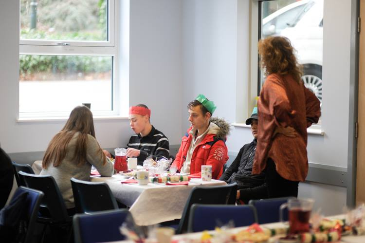 Christmas Lunch for the homeless and those on their own at Christmas - Young Homeless and helpers