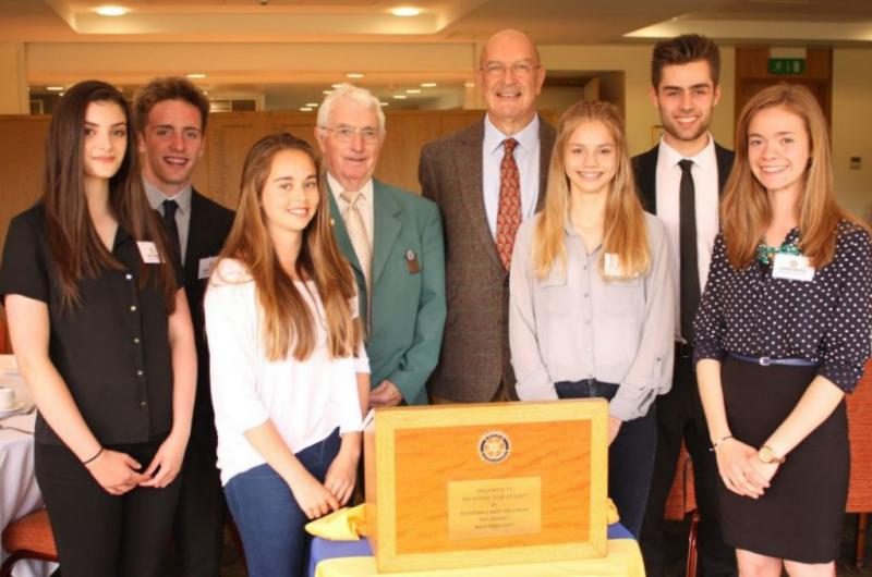 Youth Speaks 2015 - Izzy, Tiaran, Rebekah, Chloe, Tyrone & Hannah with Rotarians John & Steve