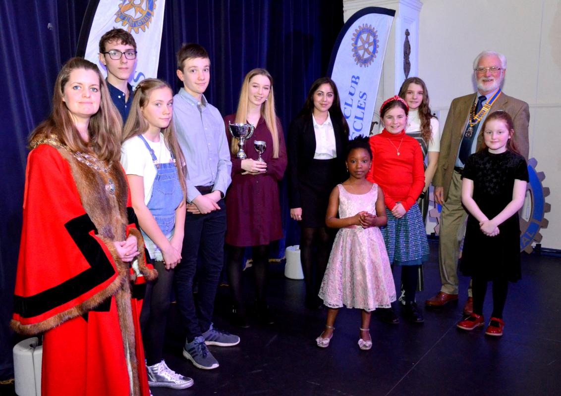 Young Musicians Competition - The group of vocalists who performed in 2019
