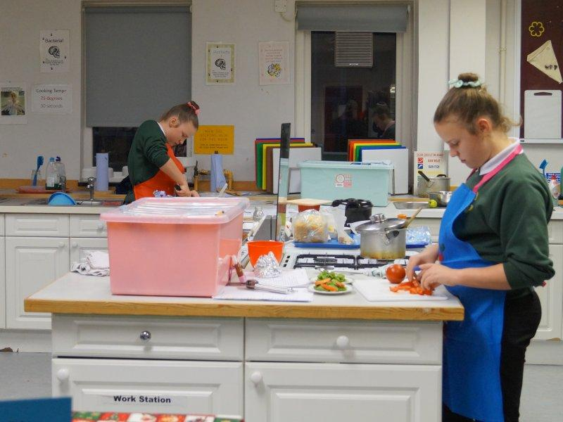 2015 Rotary Young Chef Competition - Sorting their ingredients.