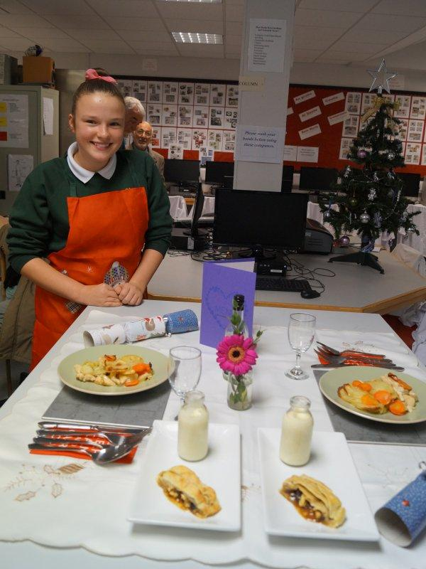 2015 Rotary Young Chef Competition - Great care taken with presentation.