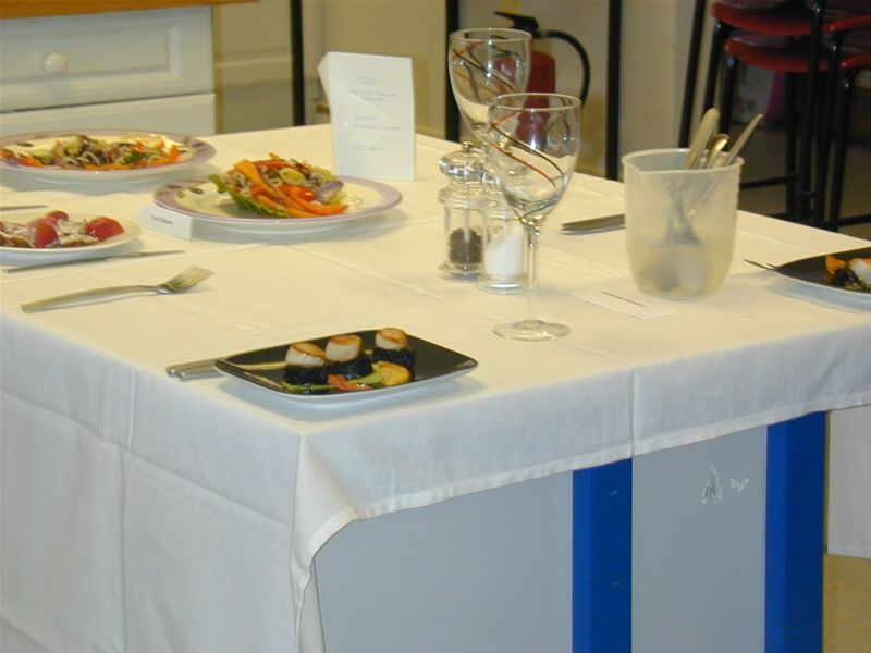 2010 Rotary Young Chef Competition - The table is laid.