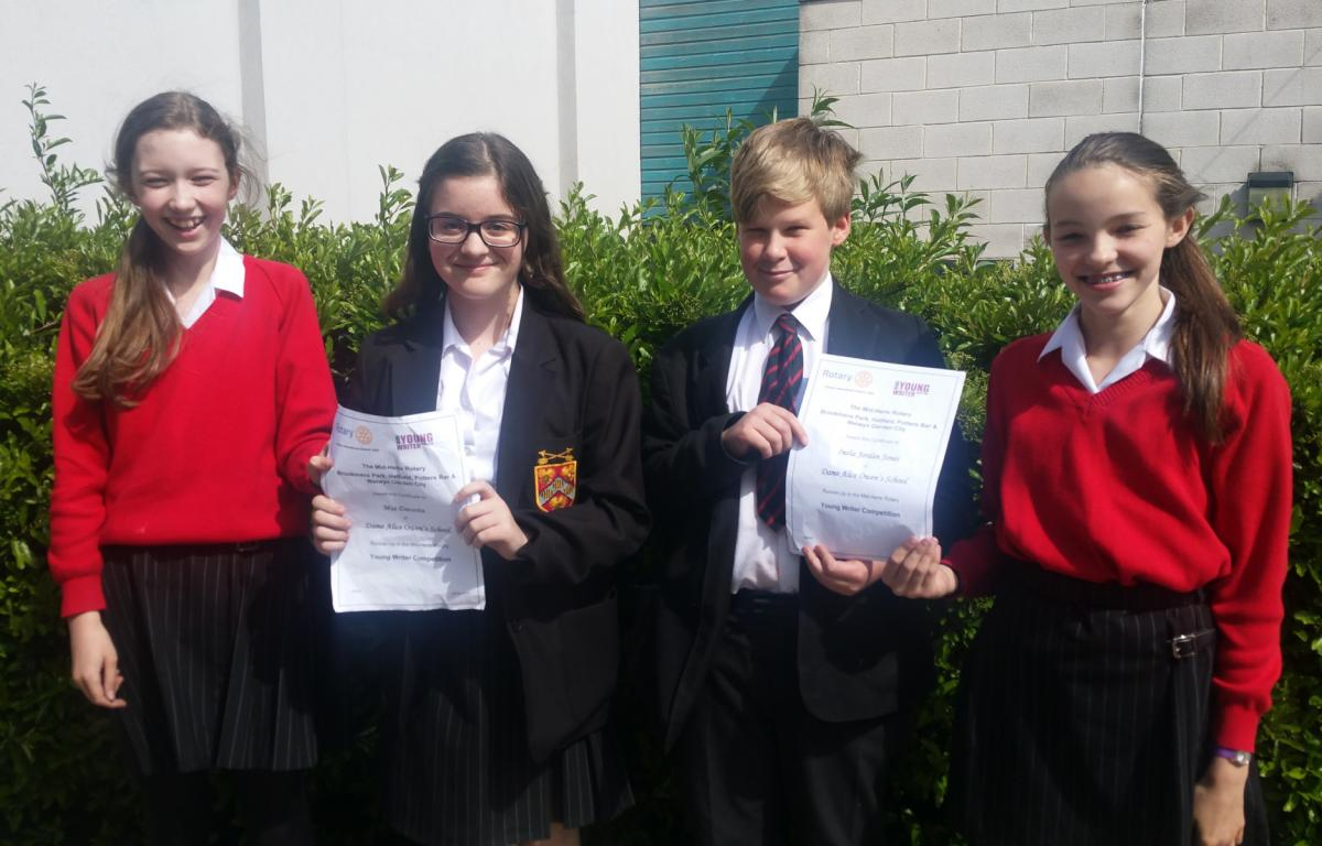 Young Writer Competition - Intermediate Competition Winners