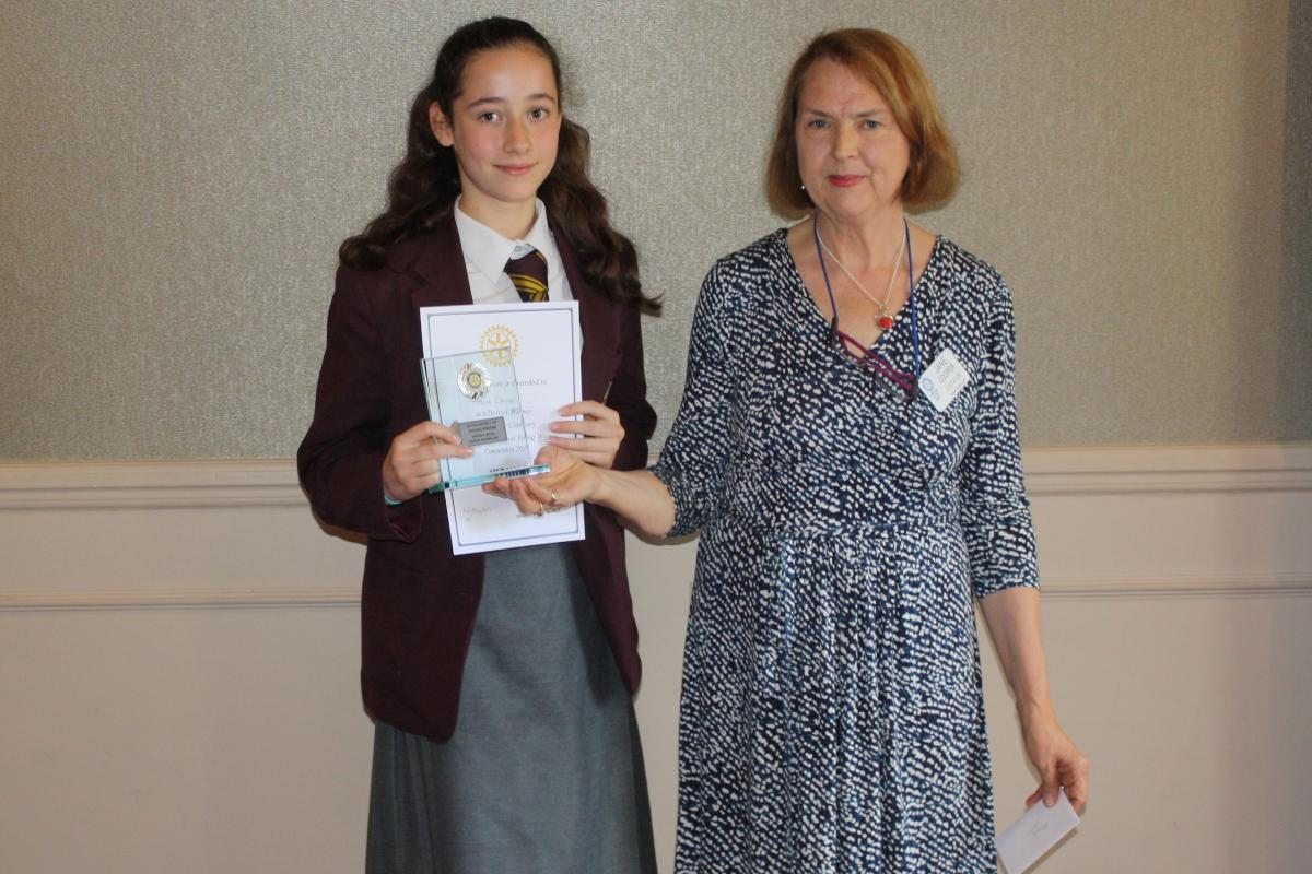 Young Writer Competition - Alice Davis - District winner in the senior category