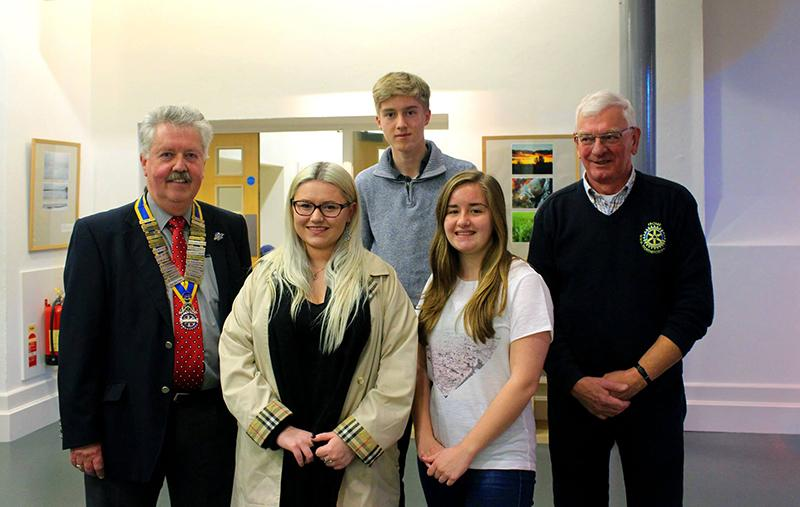 Rotary Young Photographer 2015 - Three winners with President Patrick Cusworth and Rtn Christopher Good