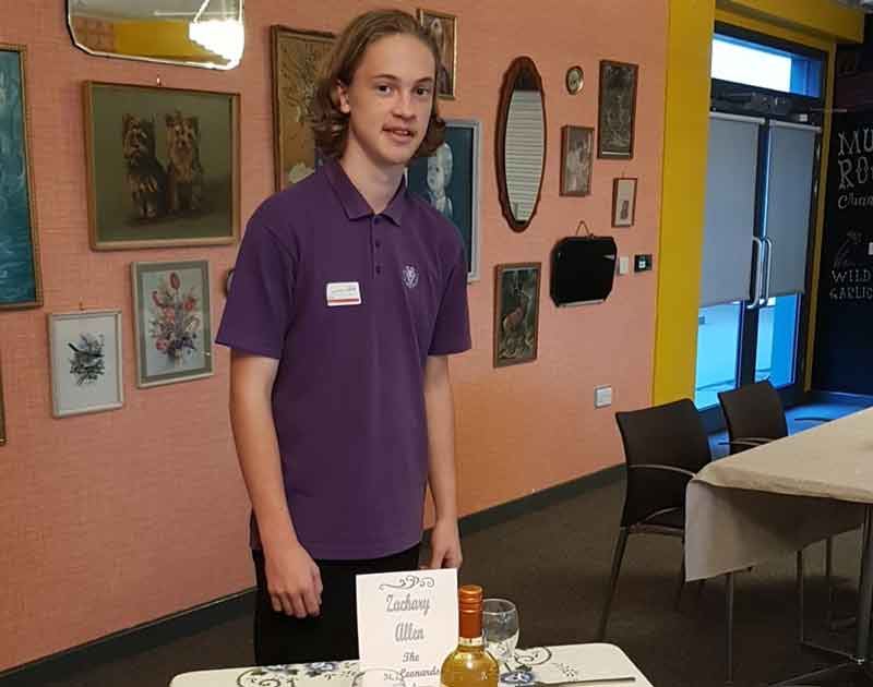 Young Chef 2017/2018 - local round - Winner Zachery Allen at his table