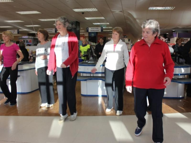 Zumba in the Co-op - You don't normally get this in the Co-op!