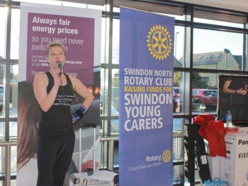 Zumba in the Co-op - And Swindon North Rotary Club