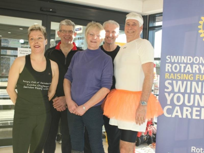 Zumba in the Co-op - President Lynn's Challenge has raised loads of cash for SYC