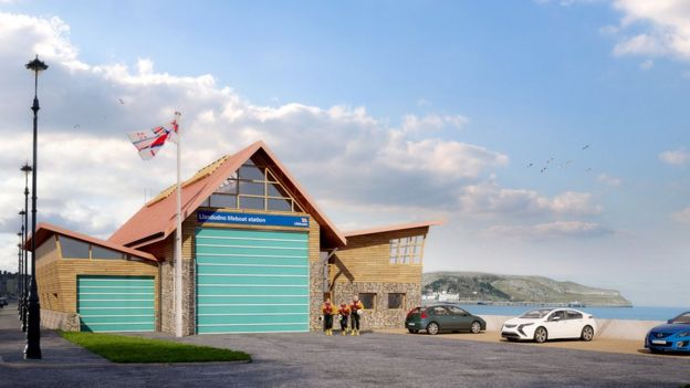 We need a bigger boat...! - Artist's impression of Llandudno's new lifeboat station