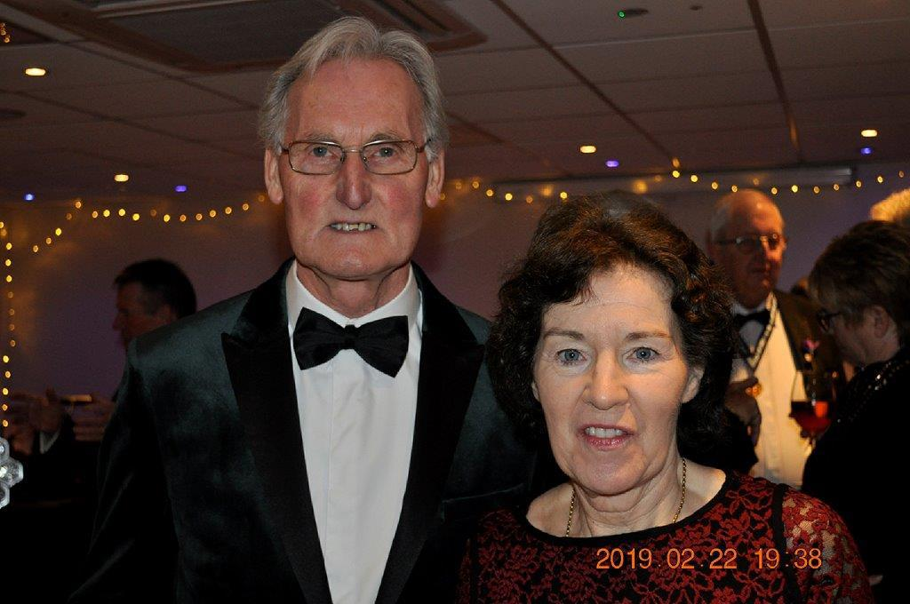 2019 - President's Party Night - There was smiles all round at the start of the evening.