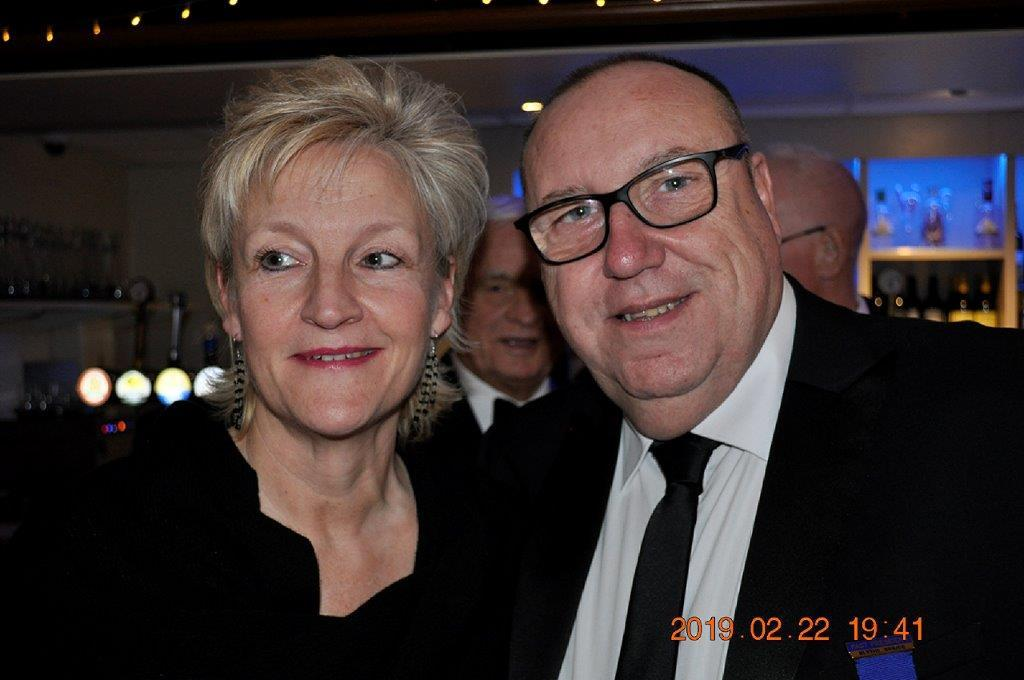 2019 - President's Party Night - One of many happy couples.