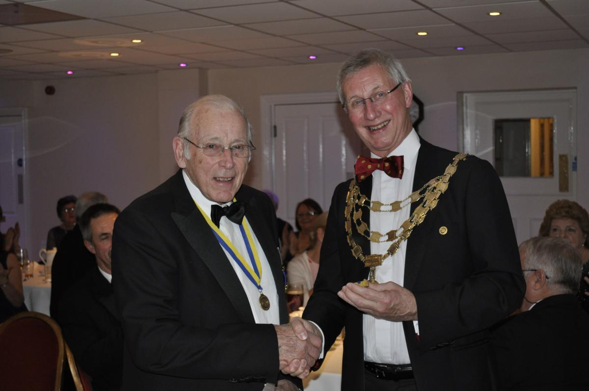 Member Awards & Presentations - In November 2017 Club member Alan receiving his Paul Harris sapphire award in recognition of his had work or many years and loyal commitment to the club and Rotary.