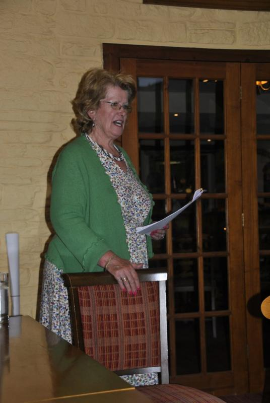 Dinner and speaker Sue Lewis at the Baron -