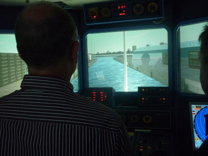 Visit to Lairdside Maritime Simulator - aaRotary-Club-at-Southport-Links-Lairdside-1 1