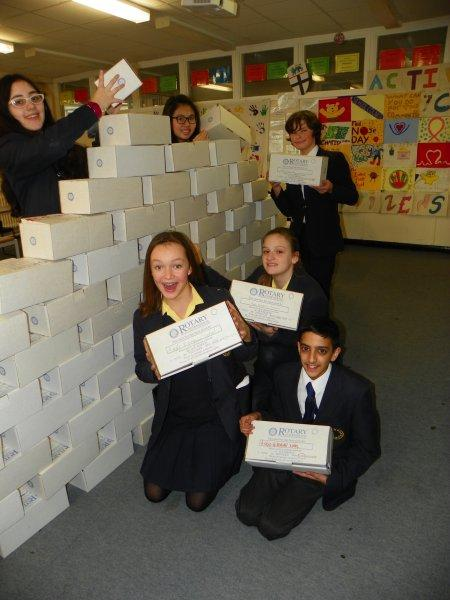 Rotary Shoebox Collections - 2017 - Making a pile of shoeboxes