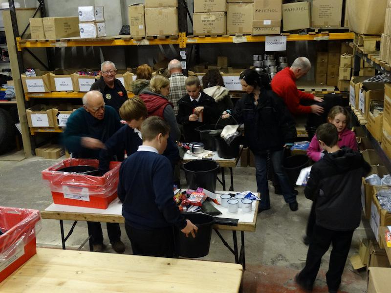 Pupils from Ashton Park School, Bristol. Assisting with packing. - ap1