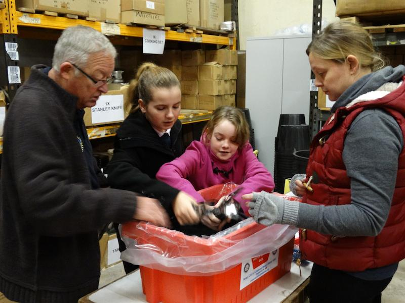 Pupils from Ashton Park School, Bristol. Assisting with packing. - ap7