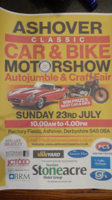 Ashover Car Show 2017 - ...with details of the event