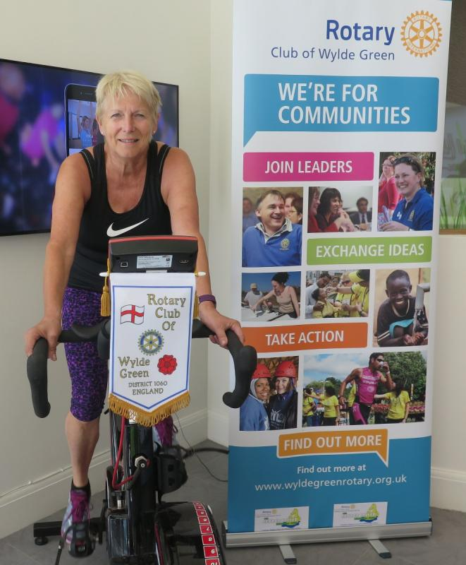 Static bike ride in aid of George Coller Memorial Fund, supporting children with asthma. -