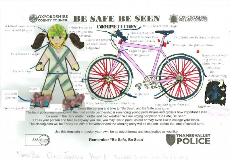 Primary School Be Safe, Be Seen Campaign - The winning poster