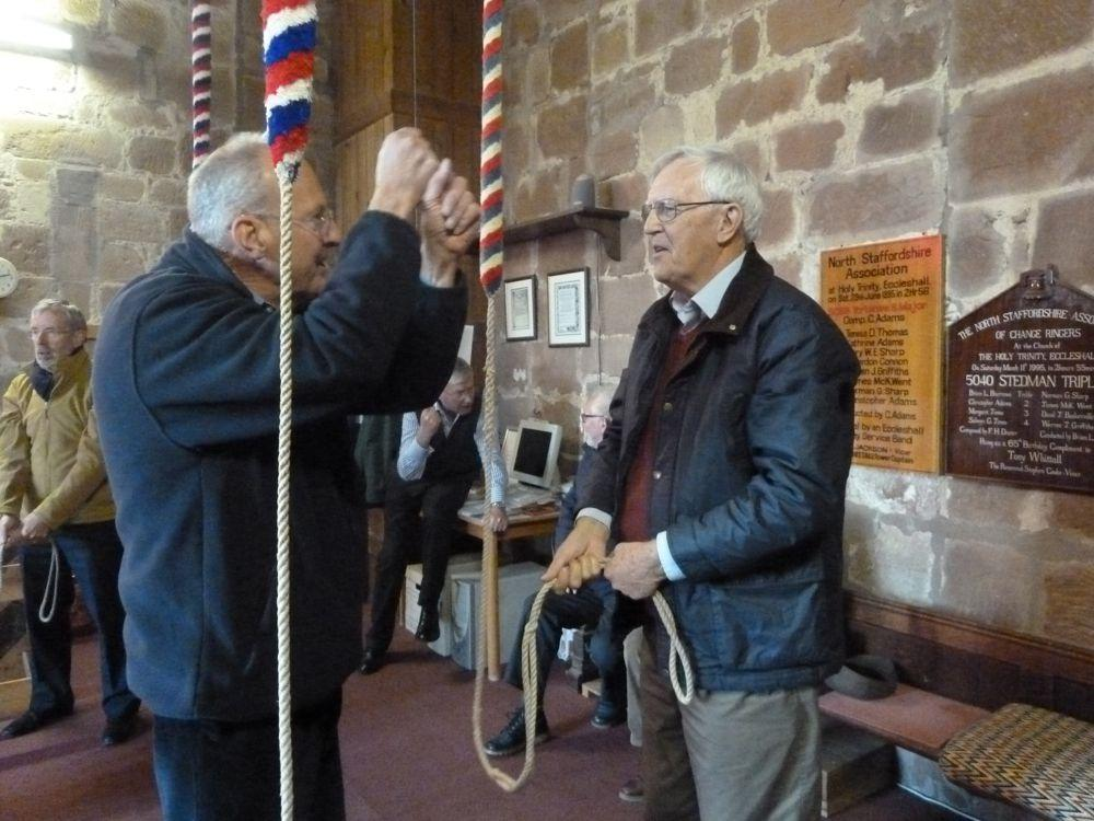 Bell Ringing at Eccleshall Holy Trinity Church - on how to use the ropes and ring a bell