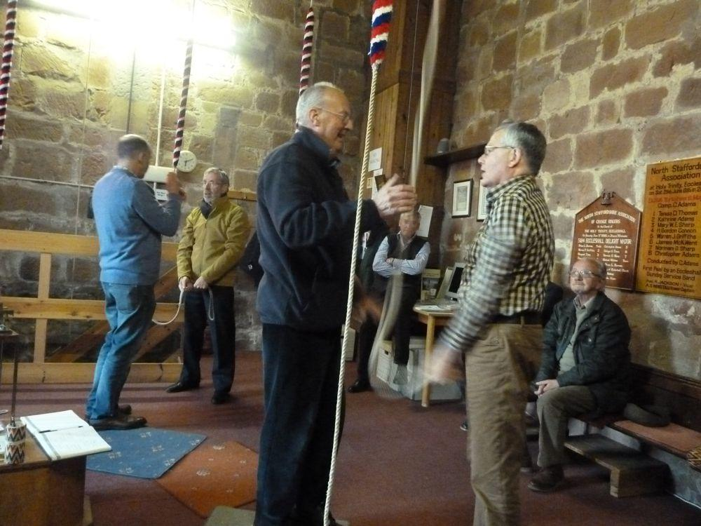 Bell Ringing at Eccleshall Holy Trinity Church - on how to bell ring.