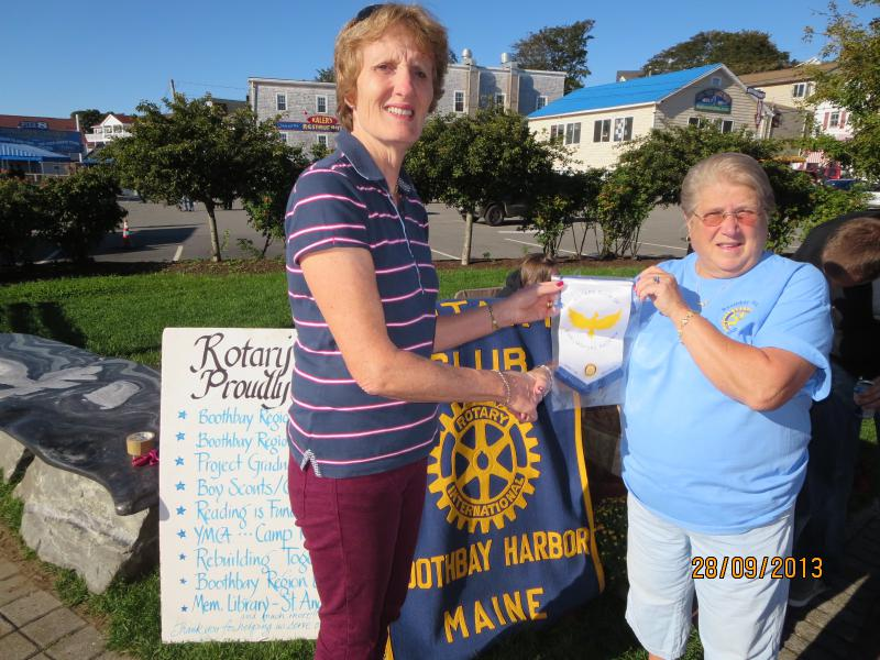 Visits and Visitors - Jane Johnston visits Boothbay Harbor Rotary Club in the USA