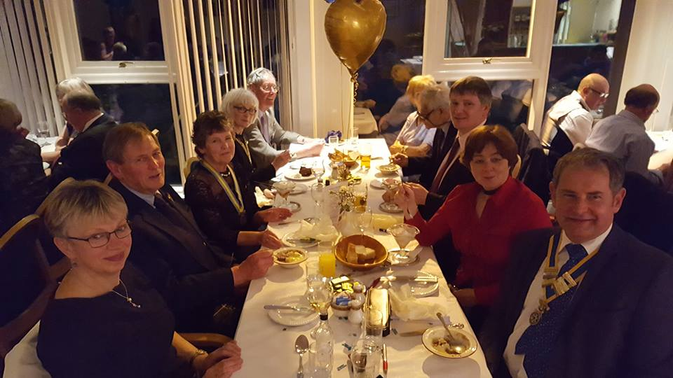 The Rotary Club of Glenrothes -  60th Anniversary - brians tble