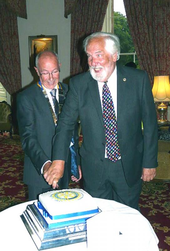 Charter  60 years on - President Douglas Allison and longest serving member Hugh Taylor.