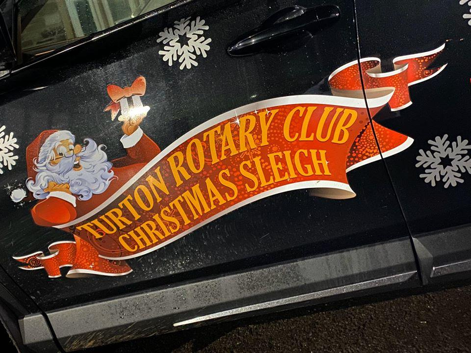 Christmas Sleigh (Winter) - Thanks to RRG Bolton who kindly provide us with the means to tow the Sleigh each year.